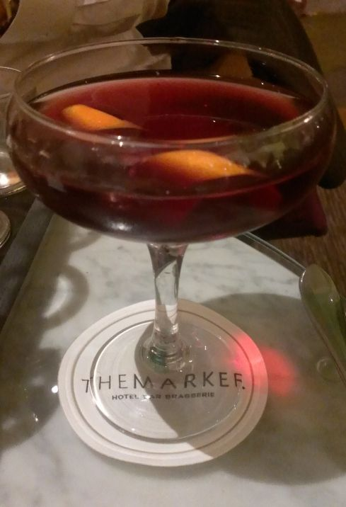 Robins Way at The Marker Hotel. Redbreast 12 years, ruby port, apple juice, plum and orange bitters.