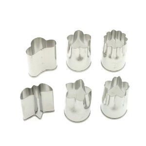 Kotobuki Set of 6 Small Stainless Vegetable Cutters $8.65