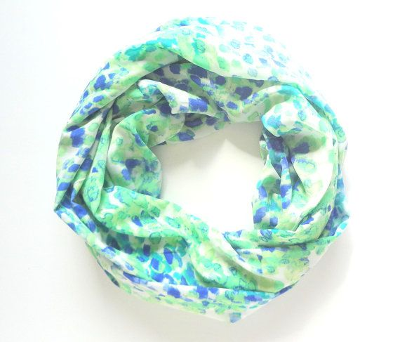 Green Infinity scarf Mint Infinity scarf by FashionelleStudio