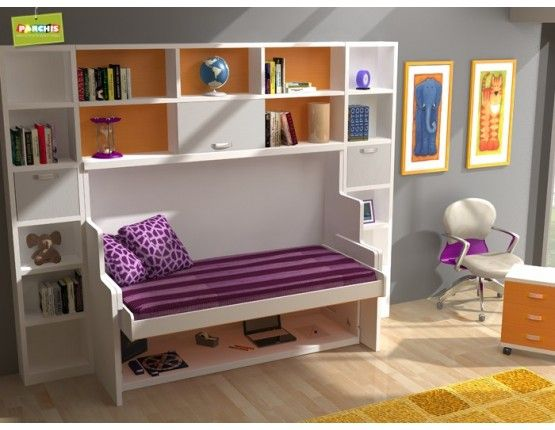 Cama mesa convertible un modelo nico para ahorrar - Cama para espacios reducidos ...