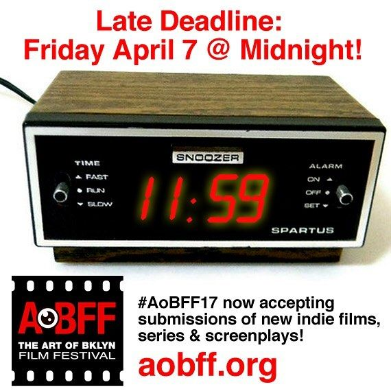 Late #deadline this Friday for #aobff17 #callforentries #brooklyn #indiefilm #screenplay #series @filmfreeway @thescriptlab @prattinstitute @sfcnyOriginal photos posted by The Art of Bklyn Film Festival aobff.org