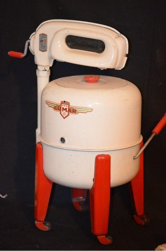 Coin Washing Machine >> Old Louis Marx Lumar Wringer Washer Washing Machine Doll Child from oldeclectics on Ruby Lane ...