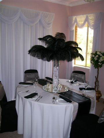 love the ostrich feathers...