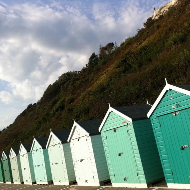 Beach huts in Poole Dorset.