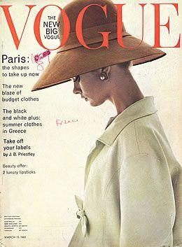 Jean Shrimpton - Vogue Magazine [United Kingdom] (15 March 1963)