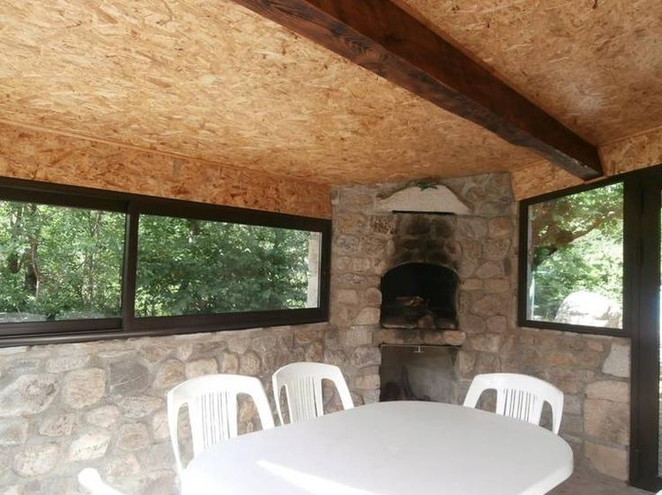 Image result for terrasse couverte barbecue