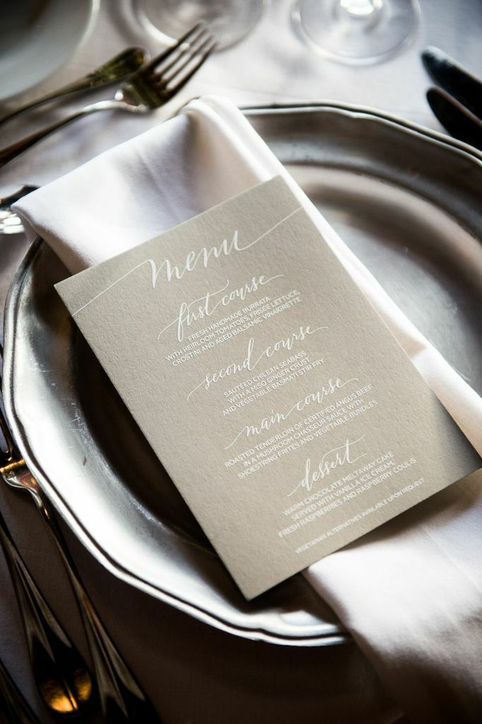 Brooklyn Wedding from Brian Hatton Photography and Rock Paper Scissors Events - wedding menu card idea