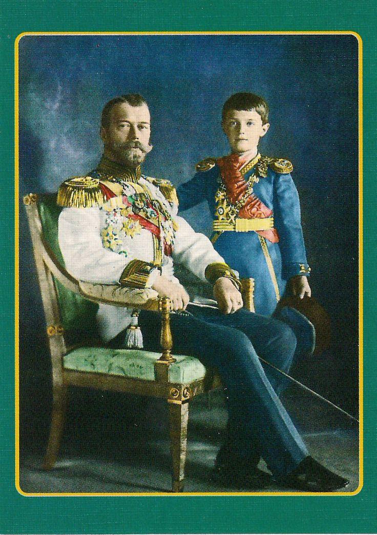 Czar Nicholas II & son Alexi