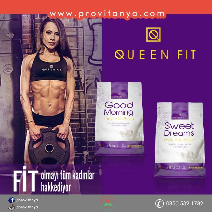 #QUEEN FİT #BAYANLAR İÇİN #ÖZEL #PROTEİN   Queen Fit Good Morning ve Sweet Dreams protein tozları bayanların günlük ihtiyaçlarını karşılamaya yönelik zengin protein içeriğine sahiptir.   www.provitanya.com | Sağlıklı Yaşamın Adresi info@provitanya.com | 0850 532 1782 | 0533 733 8224 #provitanya #queenfit #proteintozu #fitfam #fitness #spor #sağlık #besindesteği #antioksidan #goodmorning #sweetdreams #bayanlaraözel