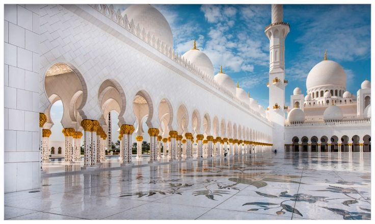 Quadro Decorativo Grande Mesquita Sheikh Zayed em Abu Dhabi 193x115cm - Decore Pronto