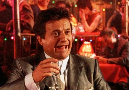 """What do you mean I'm funny?"" - Joe Pesci as Tommy DeVito in Scorsese's The Goodfellas (1990)"