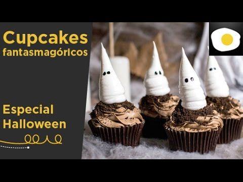 Cupcakes fantasmagóricos para Halloween (Receta USA) | Alma Obregón | Ha...