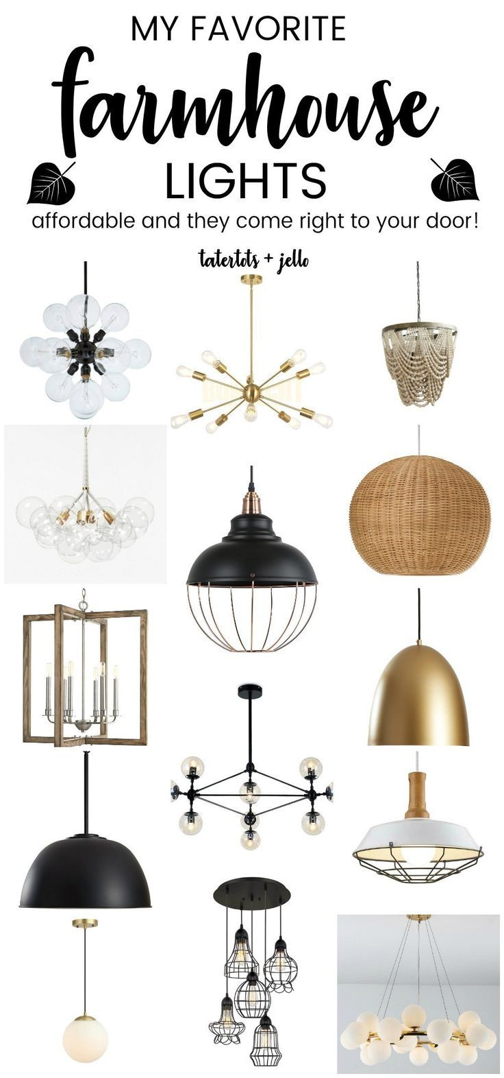 My Favorite Affordable Modern Farmhouse Lights To Update Your Home