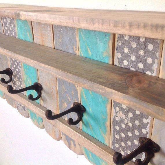 Étagère en bois de porte dentrée / palette par RiversideStudioON