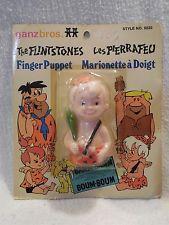 Flintstones 1970's Ganzbros. Canada Rubber Bamm-Bamm Rubble Finger Puppet MOC