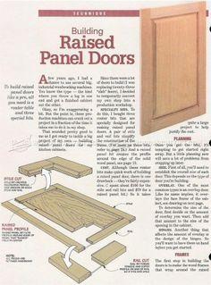 #213 Making Raised Panel Doors - Cabinet Door Construction
