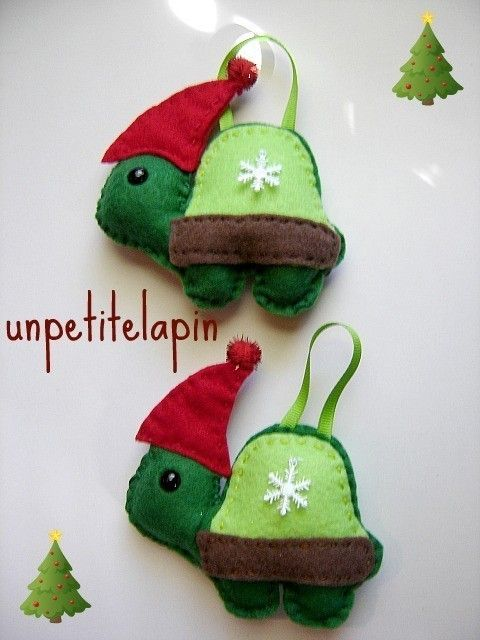 Felt Turtle Ornament