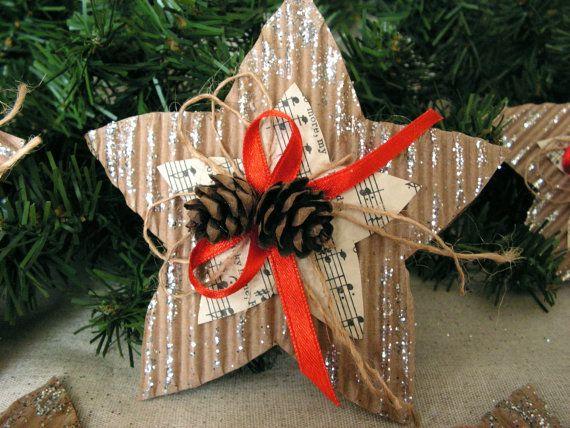 Music  Paper Star Christmas Ornament Assortment  by Mydaisy2000