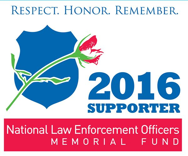 Free 2016 National Law Enforcement Officers Memorial Fund supporter decal