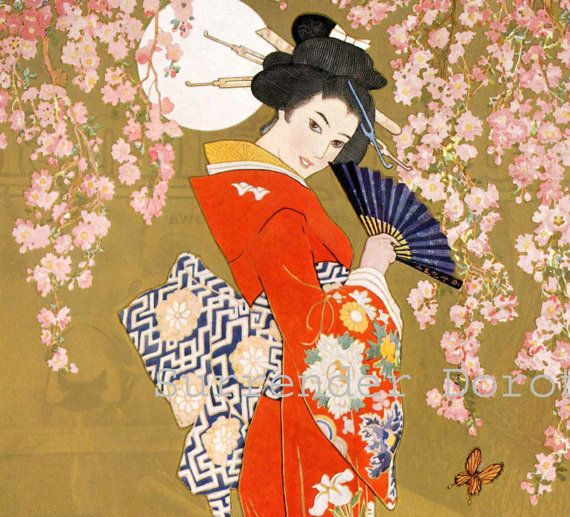 Geisha woman in traditional clothing japanese style stock illustration