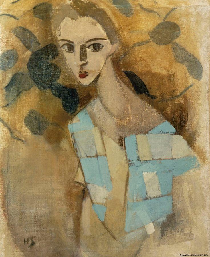 "lawrenceleemagnuson: ""Helene Schjerfbeck (1862-1946) Girl from Eydtkuhnen II (1927) oil on canvas 70 x 54.5 cm Finlands Nationalgalleri """