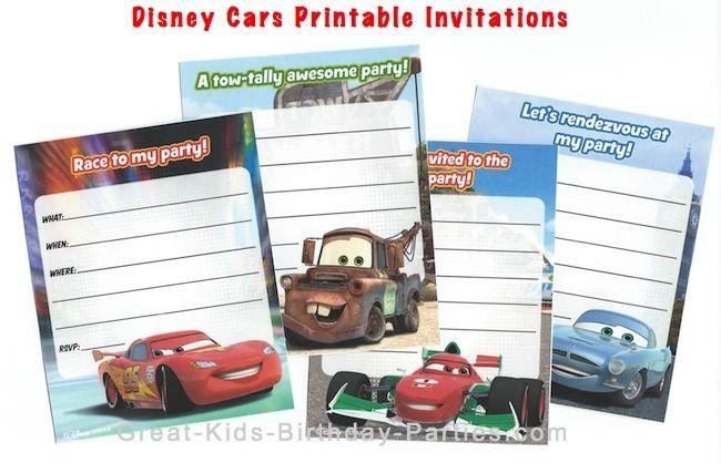 Disney Cars Birthday Party 2nd Birthday party ideas – Printable Cars Birthday Invitations
