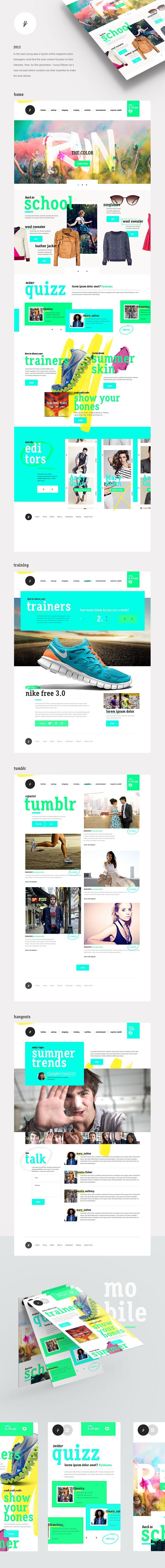 Young 2.0 #ui #ux #webdesign