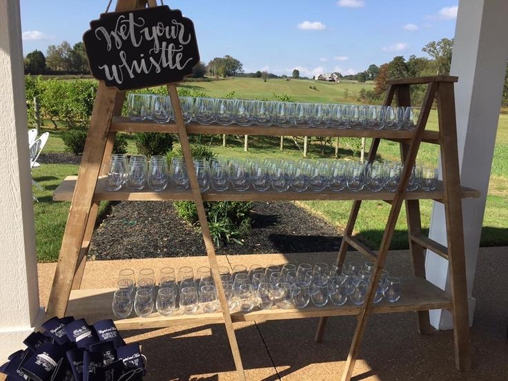 Wedding Favor Ideas- Rustic Favor Display At Wedding