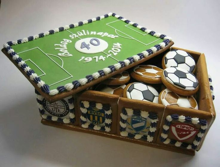 Cookie box full of soccer balls by Bocsi Csilla.