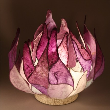 Purple Flame Table Lamp