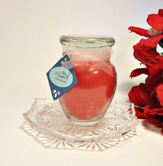 4 oz. Apothecary Jar Candle Cherry Almond by threesisterscandles, $6.00