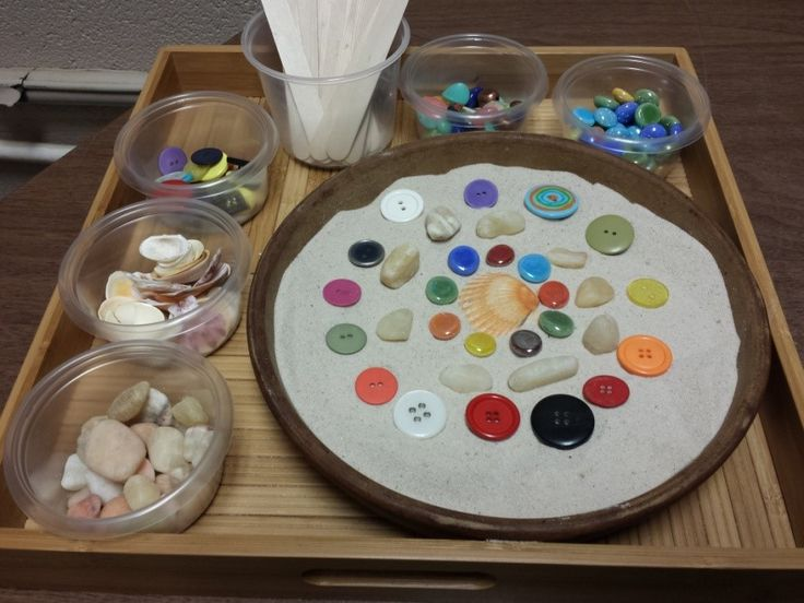 A great technique to combine sandtray and mandala work