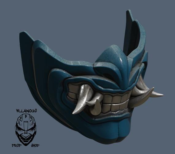 Subzero Samurai 3d printed Mortal Kombat mask Sub zero 3d printed Mk11 mortal kombat 11