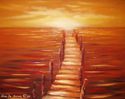 An escape I like. Painting by: Gina De Gorna