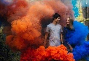 coloured smoke photo