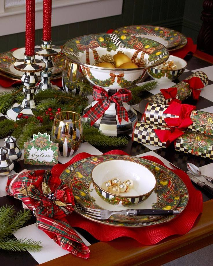 1227 Best Christmas Table Scapes Place Settings And