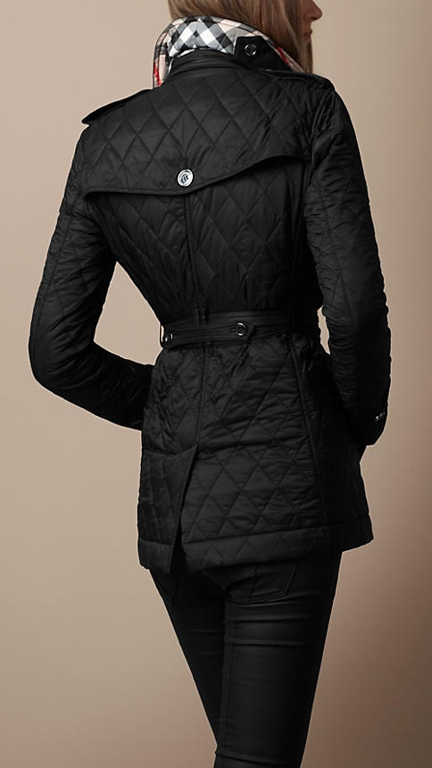 Burberry jacket...really torn between black and olive