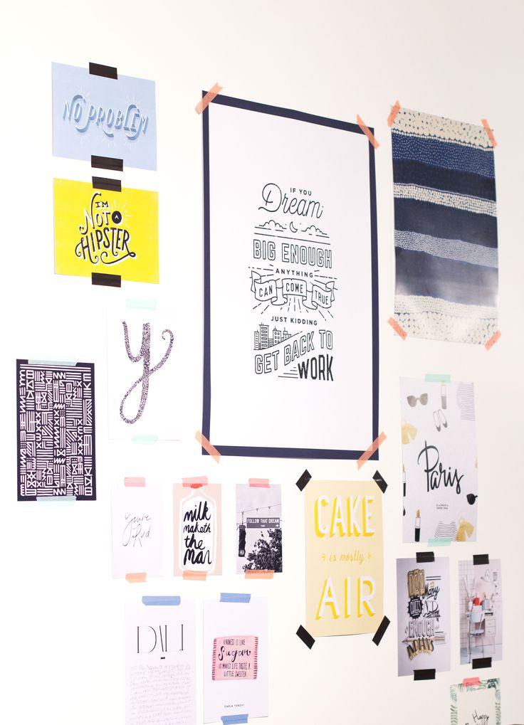 Images et graphisme scotchés aux murs chez My Little Paris