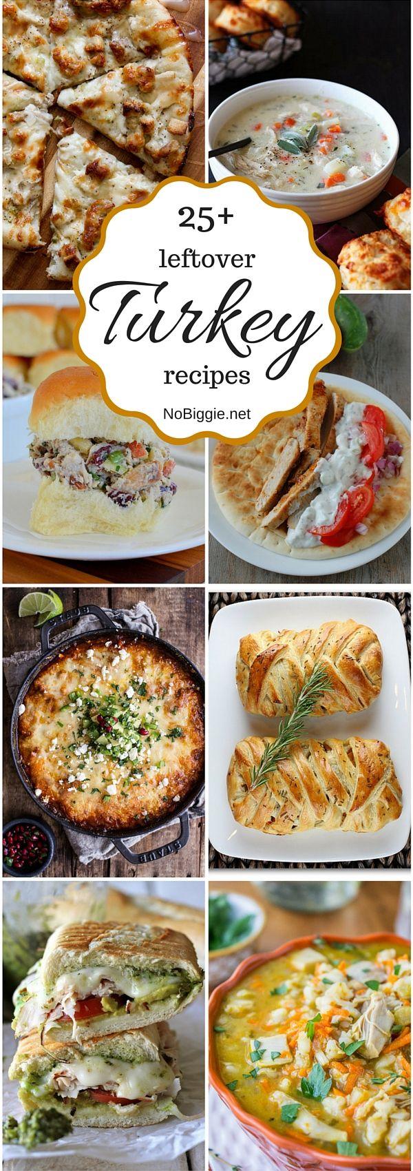 25+ leftover turkey recipes- NoBiggie.net
