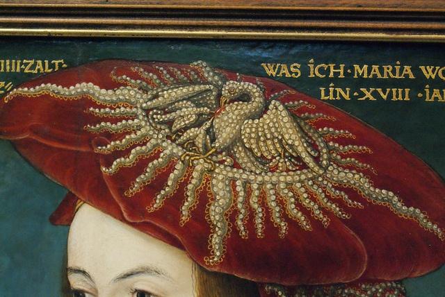 Hans Maler  von 1500 – 1520 in Ulm nachweisbar (verifiable in Ulm/Germany), Bildnis der Maria Welzer (portrait of …) 1524 datiert (dated) Tempera auf  Holz (tempera on wood)