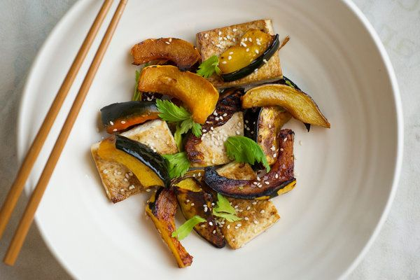 Sweet-and-Spicy Roasted Tofu and Squash