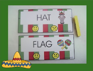 Cinco de Mayo clipping cards and pinata song from Ingles 360