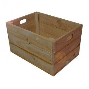 Our standard size crate is popular for storage in your home and works great placed upside down as a plinth for retail displays. Perfect for storing your logs by the fire place or add our standard lid, partition and castors to create a potato and onion box.  Dimensions are L 500mm x W 360mm x H 285mm.  All Products Are Made To Order.
