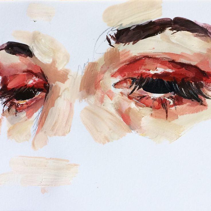 Eye study in acrylic