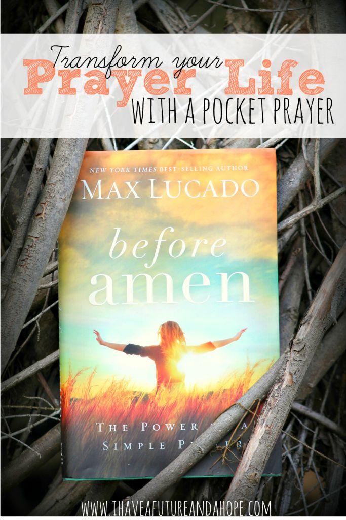 Do you struggle with your prayer life? Max Lucado shows us how to transform our prayer life with a simple pocket prayer.