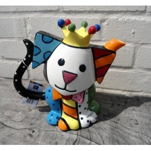 Romero Britto: Little Dog Teapot