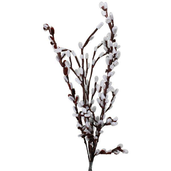 Nämä oksat eivät allergisoi ja säilyvät vuodesta toiseen. Materiaaleina askartelupunos ja ruskea kukkateippi. Tarvikkeet ja ideat Sinellistä!