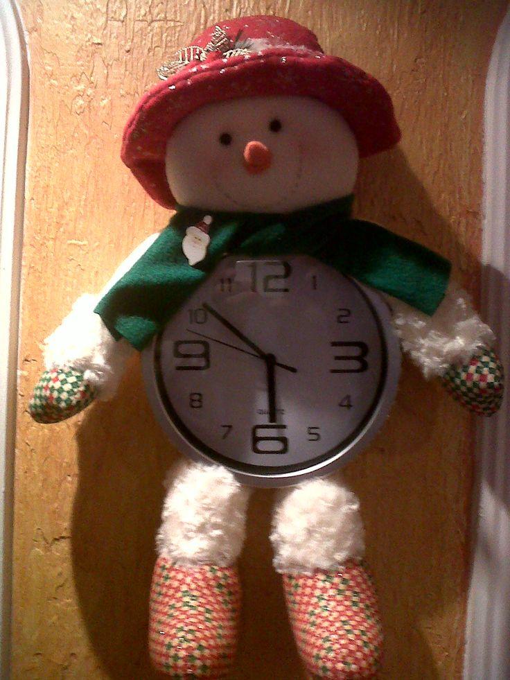 Reloj Nieve navideño