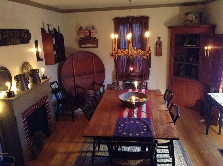 Primitive Dining Room Ideas Part - 16: Peteru0027s Beautiful Home~. Find This Pin And More On Primitive Dining Room ...
