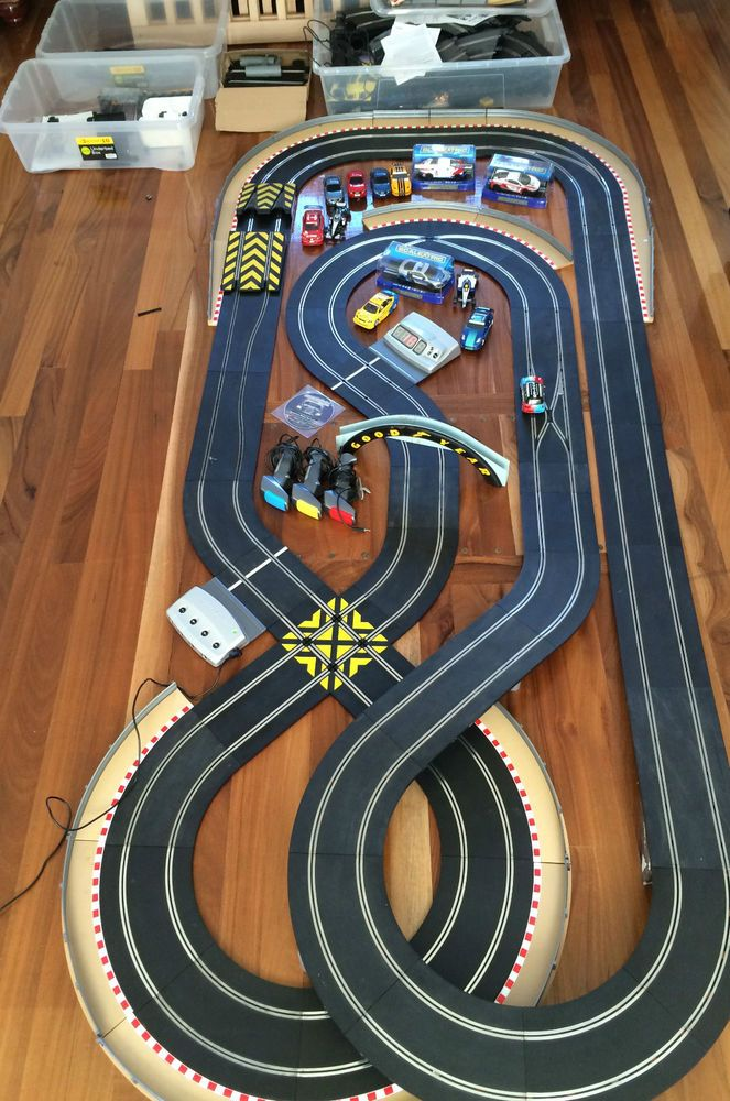 Time sensitive - Huge SL5 digital Scalextric track set Bundle Jadlam racing layout 13 cars 2 BNIB